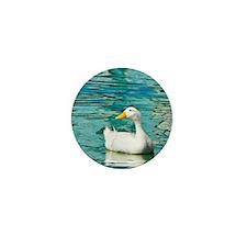 White Pekin Duck Photo Mini Button