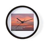 Isaiah 40:3 Wall Clock