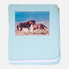 Mustang Fight 3 baby blanket