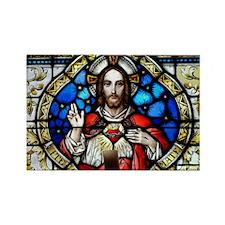 Sacred Heart Rectangle Magnet