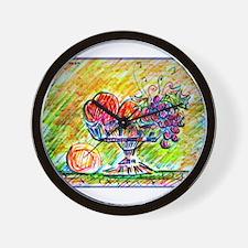 Fruit bowl, bright, Wall Clock