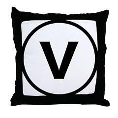 Circle V Throw Pillow