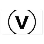 Circle V Sticker (Rectangle 10 pk)
