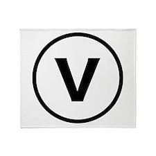Circle V Throw Blanket