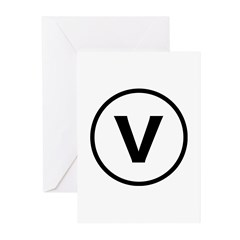 Circle V Greeting Cards (Pk of 20)