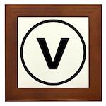 Circle V Framed Tile