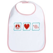 Peace, Love and Candy Squares Bib