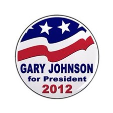 "Gary Johnson for President 3.5"" Button"