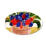 Flowers in Pot 20x12 Oval Wall Decal