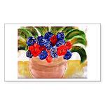 Flowers in Pot Sticker (Rectangle 50 pk)