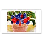 Flowers in Pot Sticker (Rectangle 10 pk)