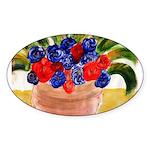 Flowers in Pot Sticker (Oval 50 pk)