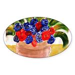 Flowers in Pot Sticker (Oval 10 pk)