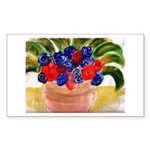 Flowers in Pot Sticker (Rectangle)