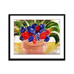 Flowers in Pot Framed Panel Print