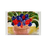 Flowers in Pot Rectangle Magnet