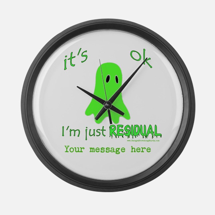 Customizable Just Residual Ghost Large Wall Clock