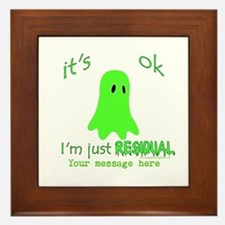 Customizable Just Residual Ghost Framed Tile