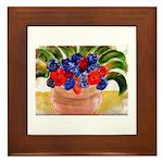 Flowers in Pot Framed Tile