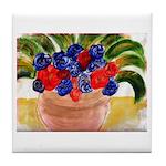 Flowers in Pot Tile Coaster
