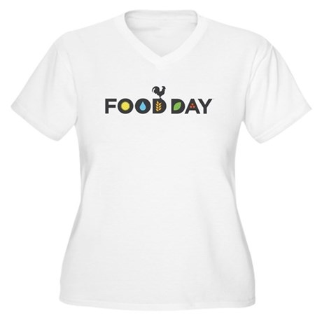 Food Day Women's Plus Size V-Neck T-Shirt
