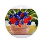 Flowers in Pot Ornament (Round)