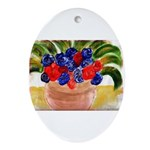 Flowers in Pot Ornament (Oval)