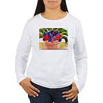 Flowers in Pot Women's Long Sleeve T-Shirt