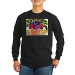 Flowers in Pot Long Sleeve Dark T-Shirt
