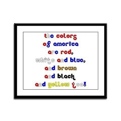 Colors of America Framed Panel Print