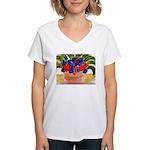 Flowers in Pot Women's V-Neck T-Shirt