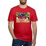 Flowers in Pot Men's Fitted T-Shirt (dark)