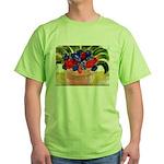 Flowers in Pot Green T-Shirt