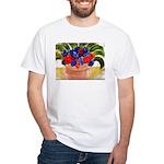 Flowers in Pot White T-Shirt