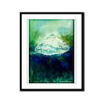 Snowy Mountain Framed Panel Print