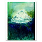 Snowy Mountain Small Poster