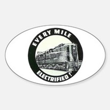 PRR EVERY MILE ELECTRIFED Oval Decal
