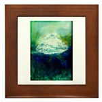 Snowy Mountain Framed Tile