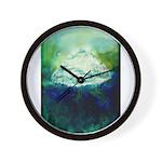 Snowy Mountain Wall Clock