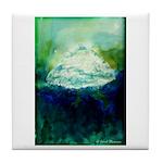 Snowy Mountain Tile Coaster