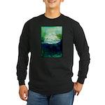 Snowy Mountain Long Sleeve Dark T-Shirt