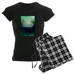 Snowy Mountain Women's Dark Pajamas