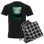 Snowy Mountain Men's Dark Pajamas