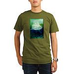 Snowy Mountain Organic Men's T-Shirt (dark)