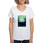 Snowy Mountain Women's V-Neck T-Shirt