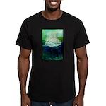 Snowy Mountain Men's Fitted T-Shirt (dark)