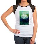 Snowy Mountain Women's Cap Sleeve T-Shirt