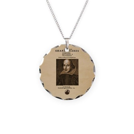 First Folio Necklace Circle Charm