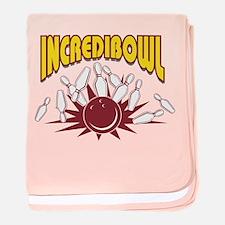 Bowling Incredibowl Bowler baby blanket