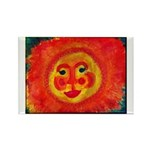 Sun Face Rectangle Magnet (100 pack)